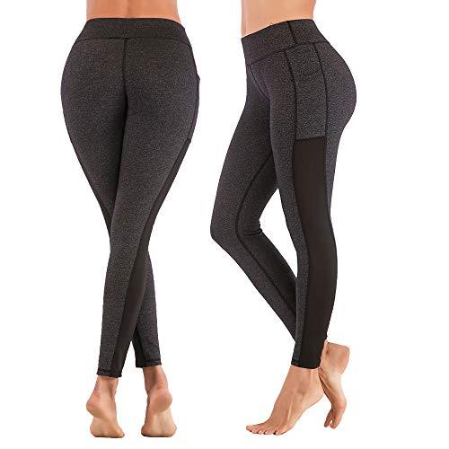 SPFASZEIV Laufhose Damen Hohe Taille Yogahose mit Tasche,Sportleggings Yoga-Hose Leggins Stretch Hose Tight Hose für…