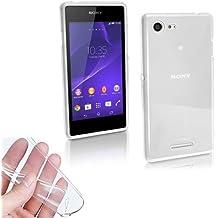 TBOC® Funda de Gel TPU Transparente para Sony Xperia E3 D2203 de Silicona Ultrafina y Flexible