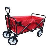 Faltbar Handwagen Gebrauchs-zusammenklappbarer Strand-Lastwagen 4 Dreht Hochleistungsgarten-Laufkatze-Kinderklapphandwagen-Faltbare Schubkarre (Farbe : Red, größe : Style-2)