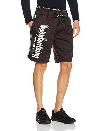 Vintage-Pantaloncini Lunghezza Ginocchio, Allenamento, Palestra, Bodybuilding C-18 Clothing, Taglia L