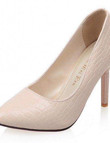 WSS 2016 Chaussures Femme-Bureau & Travail / Habillé / Décontracté-Noir / Rose / Rouge / Blanc-Talon Aiguille-Talons-Talons-Similicuir black-us6.5-7 / eu37 / uk4.5-5 / cn37