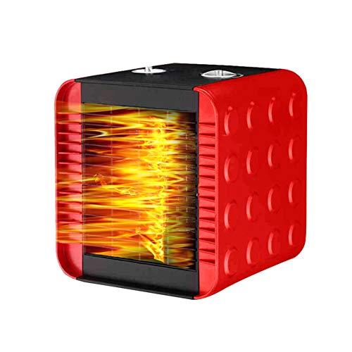 Heizung Mit Verstellbarem Thermostat, Tragbarer Elektrischer Heiz Ventilator Mit Überhitzer Schutz Sicherheit Hausheizung Kleine Sonnen Heizung Klimaanlage Rot -