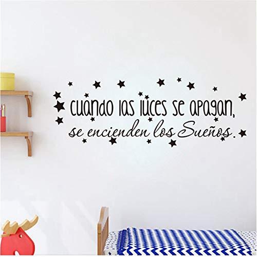 er Schlafzimmer Vinyl Die Träume Kommen Auf Inspirierende Spanisch Zitat WandBaby Nursery Art Decor ()
