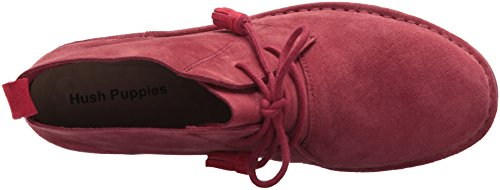 Hush Puppies Cyra Catelyn, Bottes femme Dark Red Suede