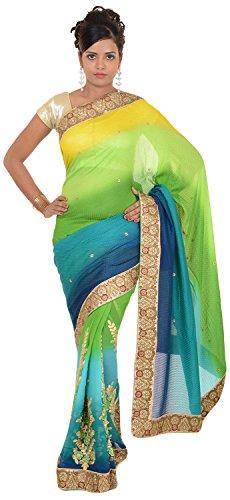 Murari Sarees Women's Crepe Saree (MurSari011