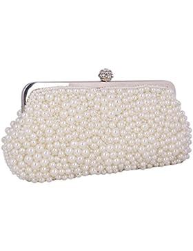 Adoptfade Abendtasche Damen Perlen Clutch Tasche
