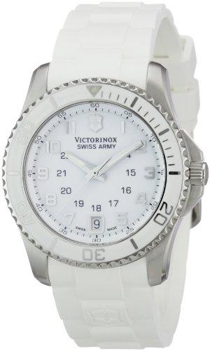 Victorinox Swiss Army - 241492 - Montre Femme - Quartz Analogique - Bracelet Caoutchouc Blanc