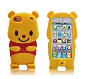 WalMartBase-Winnie the Pooh Etui Housse en Relief de Protection Coque en Silicone pour iPhone 5/5S Jaune Motif Winnie