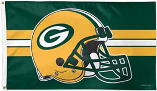 Packers - 90 x 150 cm, + gratis Aufkleber, Flaggenfritze® (Green Bay Packers Fahne)