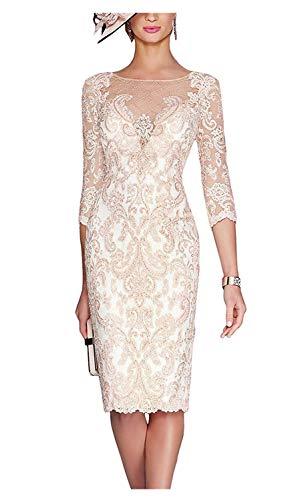 ShineGown Damen Mutter der Brautkleider mit Jacke Kurze Spitze Mutter Bräutigam Kleider für...