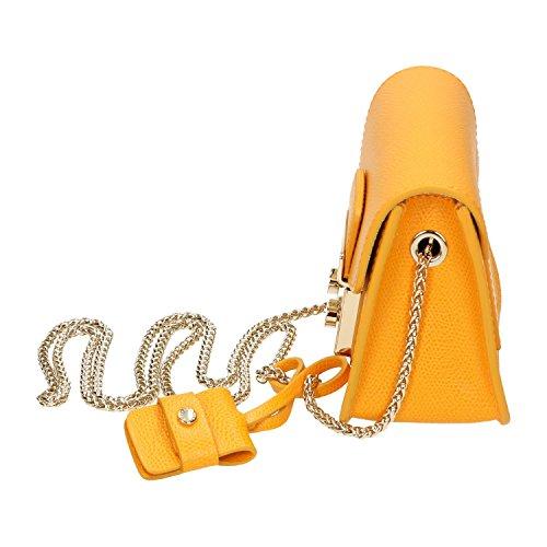BAG FURLA, applicazioni in pelle,chiusura a scatto,pelle martellata,tasca interna,interno foderato,tracolla in metallo, 100%CALF LEATHER MADE IN ITALY arancione