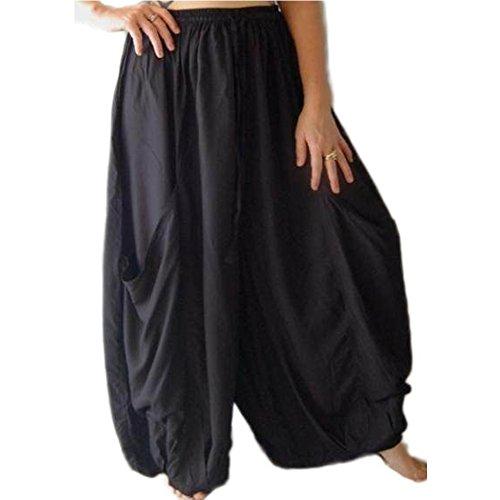 LOTUSTRADERS Damen Gaucho Hosen mit Taschen (Size Plus Gauchos)