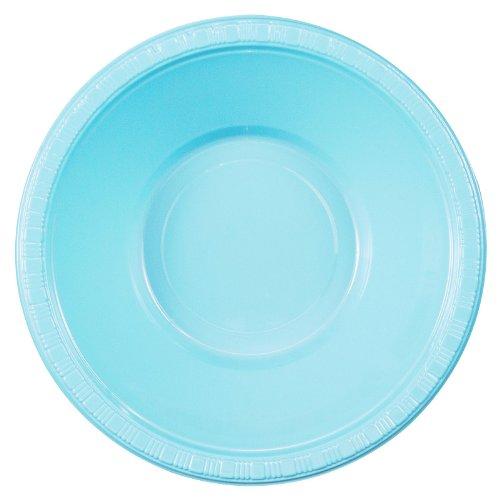 Light Blue Plastic Bowls (Kreative Konvertieren 192896 Pastel Blue-Light Blue Plastic Bowls)
