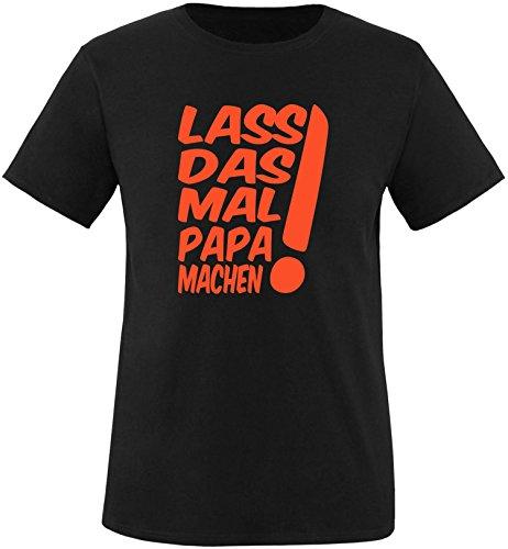 EZYshirt® Lass das mal den Papa machen Herren Rundhals T-Shirt Schwarz/Orange