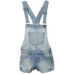 Filles Enfants Denim Dungaree Outfit Shorts Robe Combinaison Taille De La Fête 3-14 Ans