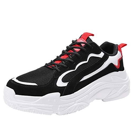 Lilicat Uomo Scarpe Sportive Traspiranti Assorbimento degli Urti Allenamento Jogging Fitness Leggero Scarpe da Corsa Running Sportive Ginnastica Sneakers (Nero,43 EU)