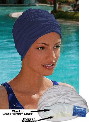 Fashy Badehaube aus Polyester, Turban blau Blu - blu