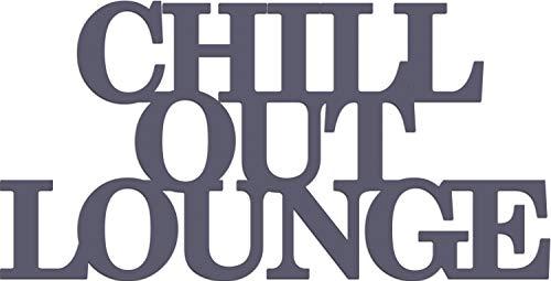 "Cuadros Lifestyle Wandobjekt | Wanddekoration | 'Chill Out Lounge"" | Schriftzug | Spruch |..."