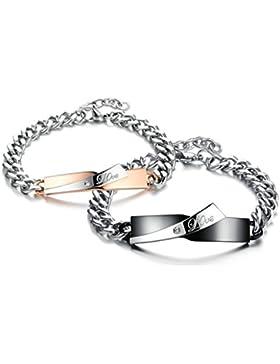 AMDXD Paar Armband mit Gravur