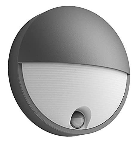 Philips myGarden LED Wandaussenleuchte Capricorn, Bewegungsmelder Aluminium 6 W Grau 164569316