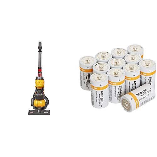 Casdon kleine Helfer Dyson Ball Vakuum & AmazonBasics Batterien Alkali, Typ C, 12Stück