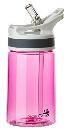 AceCamp TRITAN Traveller Trinkflasche 350 ml mit Trinkhalm, Pink, 15514