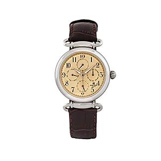 Oskar Emil Reloj analógico para Hombre de Cuarzo con Correa en Piel Matrix Gold/Brown