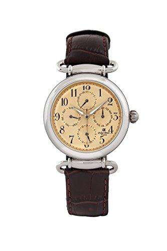 Oskar-Emil Matrix para hombre Classic reloj infantil de cuarzo con esfera analógica dorado y correa de piel color marrón