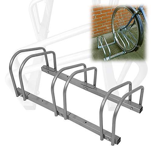 AUFUN Fahrradständer Aufstellständer Fahrrad Ständer Boden Wand Montage Metall Platzsparend (Für 3 Fahrräder) -