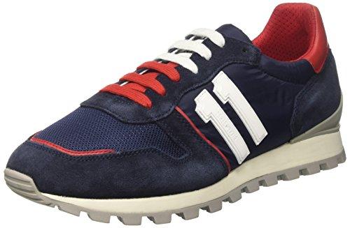 Bikkembergs Numb-er 856, Sneakers basses homme Bleu (Blue/red)