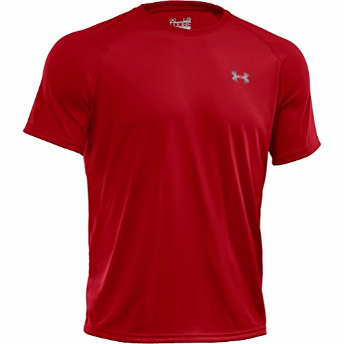 Ua Tech T-shirt (Under Armour Herren UA Tech Ss Fitness T-Shirt, Rot (Red), L)