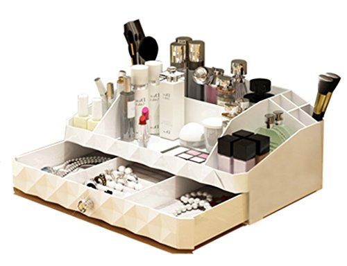 Étui cosmétique HWF Type de tiroir Bureau Cosmétique Boîte de Rangement Étagère Boîte à Bijoux Boîte de Finition Table de Toilette Plastique Organisateur