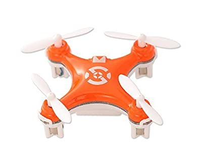 "Cheerson CX-10 1.6"" Mini Toy 2.4G 4CH 6 Axis Gyro 3D Flip LED RC Quadcopter Ready to Fly RTF Drone - Orange (29mm Diameter Propeller) Best Gift for Christmas Birthday Thanksgiving by Cheerson from Cheerson"