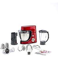 Moulinex QA502GB1 Robot Pâtissier Master Chef Gourmet Rouge et Blender/Râper Trancher 900W