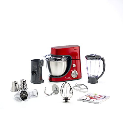 Moulinex QA502GB1 Robot Pâtissier Master Chef Gourmet Rouge...
