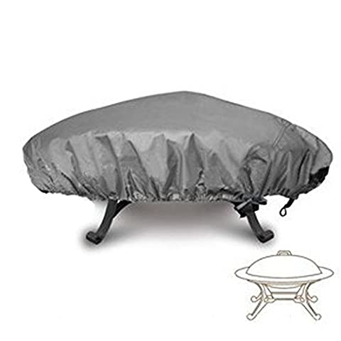 LU2000 Outdoor Round Fire Pit Cover, Firepit Protective Rain Cover, Waterproof UV Protective Rain Cover, Log Burner Cover (30