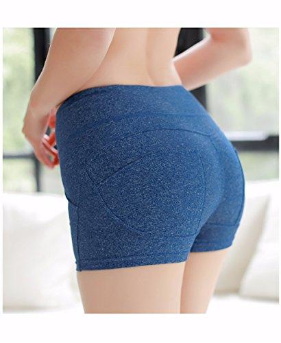 XXSZKAA/Running Sport Gym Workout Female Strumpfhosen Hot Pants/Hip-Lift Shorts Girl/Butt, Blue, S (27-28)