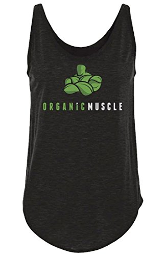 Organic Muscle Damen Active Wear Fitness Tank - Schwarz - Groß