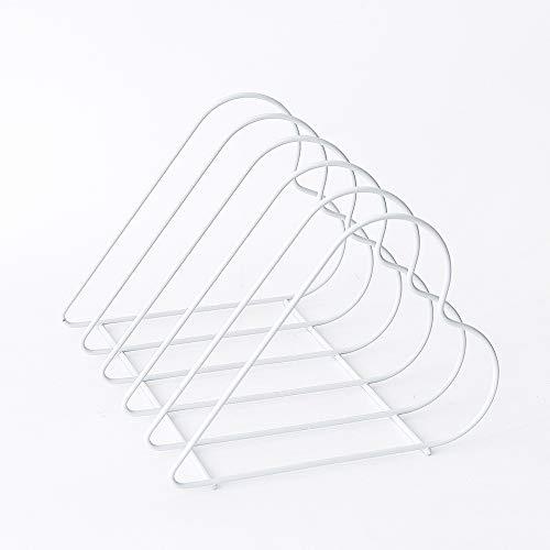 LIZONGFQ Herzförmige Datei Organizer Wire Collection 5 Abschnitt Desktop Eisen Lagerregal Bücherregal Zeitschriftenhalter Für Office Home Decoration (Schwarz),White -