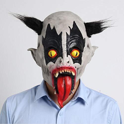 ZLALF Halloween MASK Kostümzubehör Clown Saw Evil Hair Horror Latex Für Erwachsene Und Kinder Maske Realistische Maskerade Halloween Maske Ghost Scary Mask (Gefangene Haustier Hunde Kostüm)