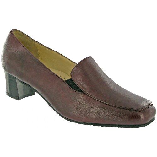Amblers Enid - Chaussures en cuir à double goussets - Femme Acajou