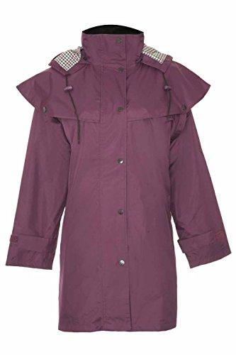 Champion Windsor Dreiviertellängige Wasserfesten Mantel mit Abnehmbare Kaputze für Damen Violett