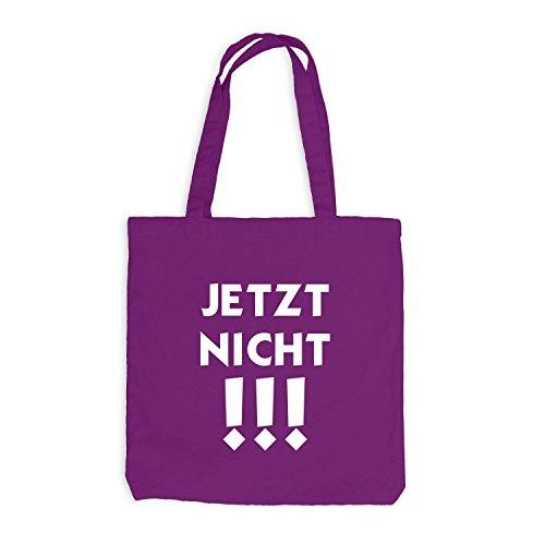Jutebeutel - JETZT NICHT - Fun Work Office Magenta