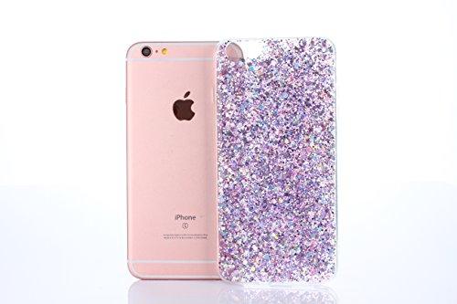 Cover iPhone 6S Plus,Cover iPhone 6 Plus,Custodia iPhone 6S Plus / iPhone 6 Plus Cover,ikasus® Cover custodia per iPhone 6S Plus / 6 Plus Crystal Brillante scintilla Bling lucido glitter strass diaman Viola