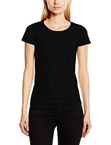 Fruit of the Loom Ss129m, Camiseta Para Mujer, Negro, M (Talla fabricante 12)
