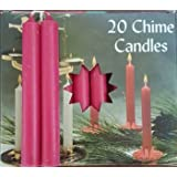 "Pomegranate Chime Candle Pack Of 20 Create Magical Light 4""Tall And 3/8""Wide"