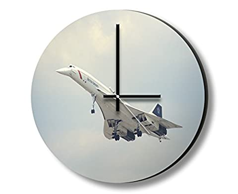 Concorde BAC Front Plane Photo Wall Clock Wanduhren Foto Uhr