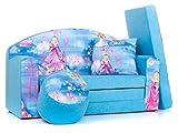 Canapé Bebe Enfant Multifunction Sofa lit + Coussin + Pouf Mousse de Meubles