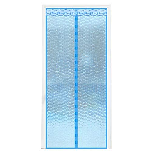 Jianfei tenda per porta bagno interno cucina isolamento acustico mantenere caldo, 3 colori (colore : blu, dimensioni : 95x200cm)