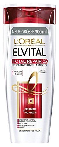 L'Oréal Paris Elvital Shampoo Total Repair 5, 3er Pack (3 x 300 ml) (Repair Shampoo)